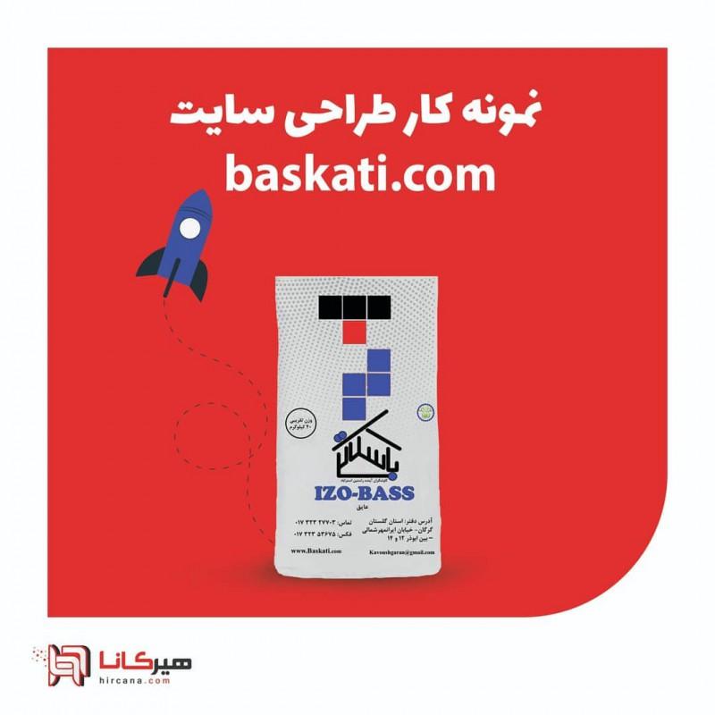 طراحی سایت شرکت باسکاتی
